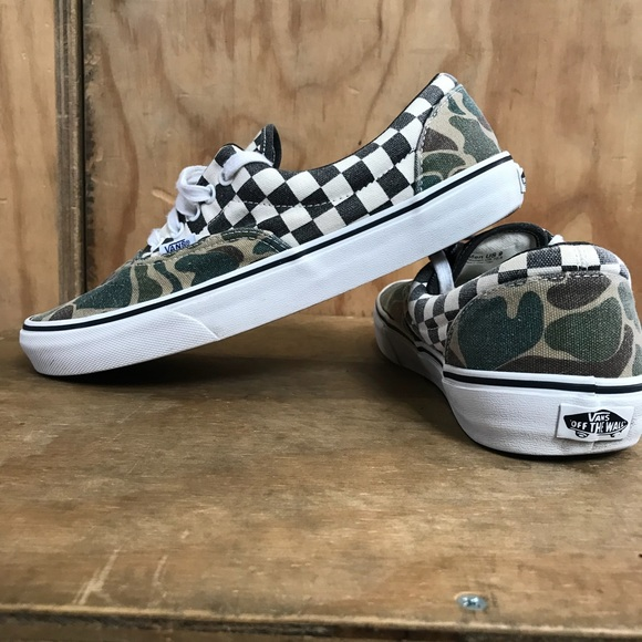 07976e7d35 Vans Doren Era Camo Checkered Men 9 women 10.5. M 5b10e8482beb79ad26acfdb5